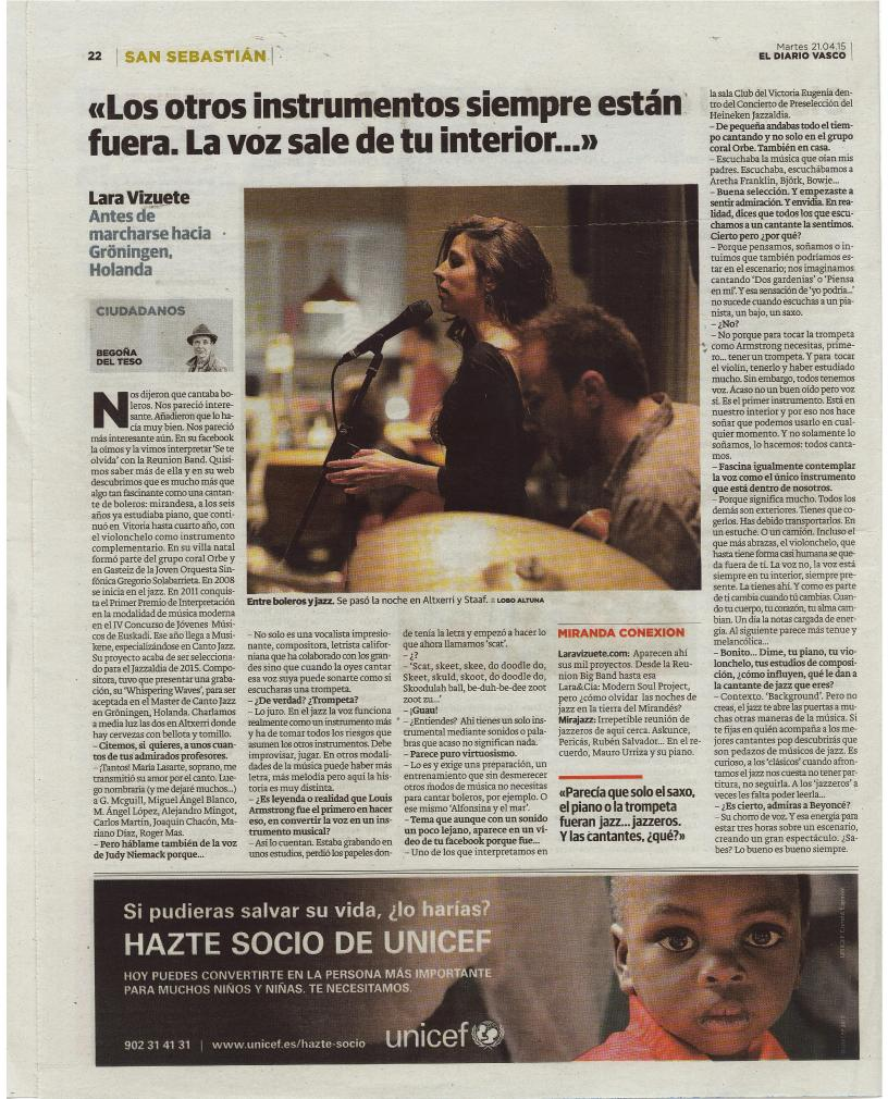 LARA VIZUETE - Diario Vasco