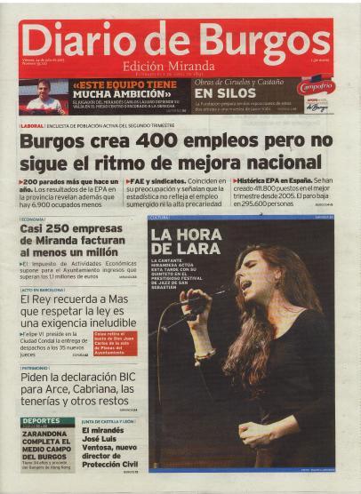 LARA VIZUETE - Diario de Burgos